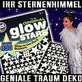 350 Teile Set Leucht Sterne Sternenhimmel nachtleuchtende UV Sticker für Decke und Wand inklusive Sternkarte Deko Zauber Traum für Schlafzimmer, Kinderzimmer uvm... von UV stars - Lampenhans.de