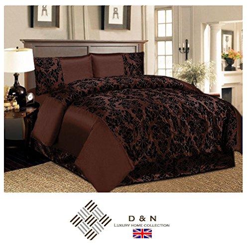 Day Night Bedding D U0026 N Betten 4 Flock Damast Bettwäsche Set Schlafzimmer 4  Pcs Komplette 1 X Bettbezug 1 X Faltenvolant 2 X Kissen Doppelbett/King ...