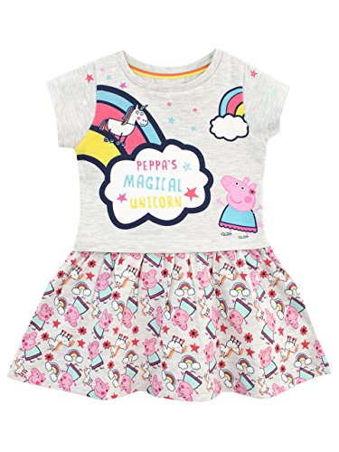 Peppa Pig Girls Unicorn & Rainbows Dress