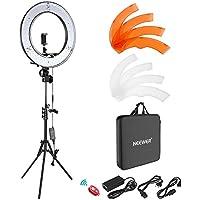 Neewer Caméra Photo Vidéo Eclairage Kit: 48 Centimètres Extérieur 55W 5500K Réglable LED Lumière Anneau, Trépied d'Eclairage, Récepteur Bluetooth pour Smartphone, Youtube, Vine Self-portrait Vidéo Tournage