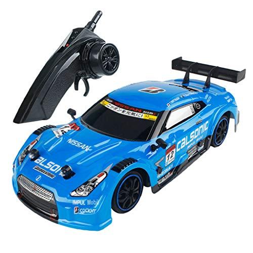 HappySDH RC Car Ferngesteuertes Auto 1/16 4WD originalgetreue LED-Scheinwerfer Karosserie Electric Racing Drift Auto High Speed Racer Auto für Kinder (blau)
