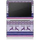 Samsung Galaxy Tab 10.1 Autocollant Protection Film Design Sticker Skin Renne Motif Norvège Noël