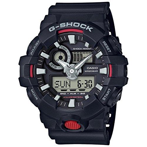 Casio Sport Armbanduhr für Männer Analog-Digital-Kunstharz–ga-700–1A (Tauchen Gshock)
