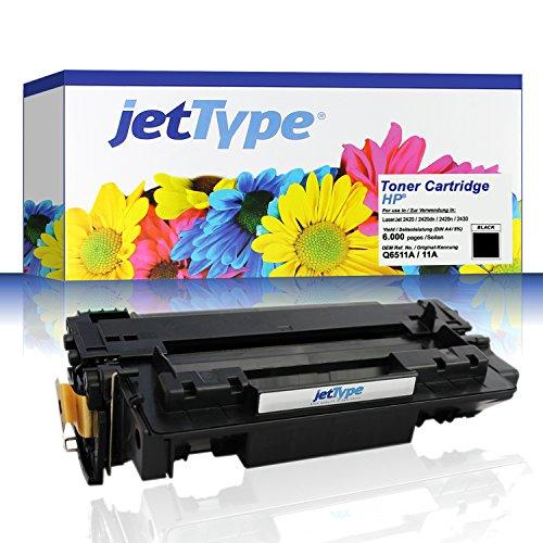 jetType Toner ersetzt HP Q6511A / 11A für LaserJet 2420 / 2420dn...