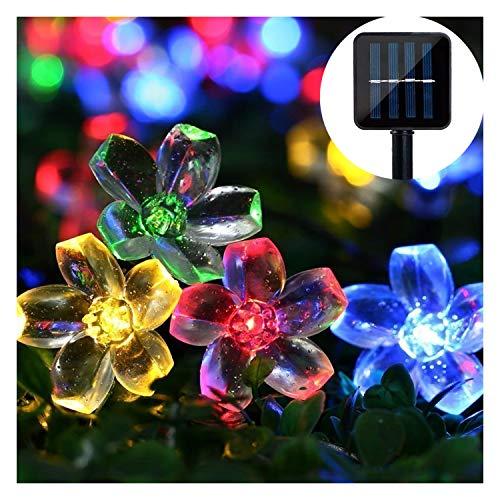Solar Lichterkette ,Mr.Twinklelight 6.5M 50er LED Lichterkette Außen Blumen Garten Licht für Garten, Terrasse, Zuhause, Weihnachtsdeko und Partys (Mehrfarbig)