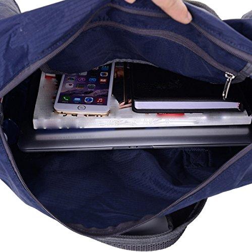 LAIDAYE Gepäck Reisegepäck-Taschen Gefaltete Verpackung Masse Sporttasche Fitnesstasche Große Kapazität Handtasche Blue