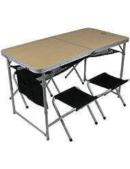 10t Outdoor Equipment 10T Portable Family Mesa de camping, Plateado, Estándar