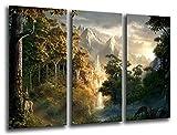 Wandbild - Bild Herr der Ringe, 97x 62 cm, Holzdruck - XXL Format - Kunstdruck, 26222