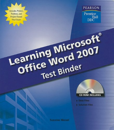 Test Binde, Learning Microsoft Word 2007 Student Edition