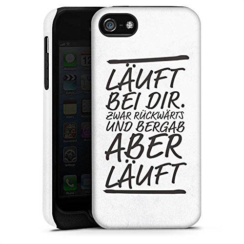 Apple iPhone X Silikon Hülle Case Schutzhülle Läuft bei dir Sprüche Humor Tough Case matt