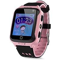 GPS-Telefon Uhr OHNE Abhörfunktion, für Kinder, SOS Notruf+Telefonfunktion, Live GPS+LBS Positionierung, funktioniert weltweit, Anleitung + App + Support auf deutsch