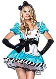Leg Avenue 83773-2Tl. Charmante Alice Kostüm, XS, Damen Karneval Fasching
