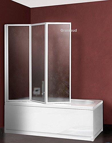 Box Vasca in Acrilico - 3 ante - larghezza 134 cm, altezza 140 cm