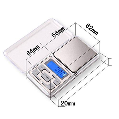Digital Waage, 200g×0.01g, sehr genau, von wake-up-easy, pocket scale, Feinwaage (Scale Pocket)