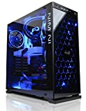 Cyberpower Ultra 1080 Luxe Gaming PC - VR Ready Desktop Computer - Intel i7 7700K 4.6GHZ OC Quad Core Processor, Nvidia GTX 1080 8GB, 32GB RAM, 480GB SSD, 2TB HDD, Internal PCI-E Wireless, CM Seidon 240 Liquid Cooling, Win 10, 805C Black)