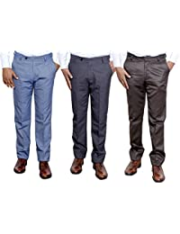 Indistar Combo Offer Mens Formal Trouser (Pack Of 3) - B01JRQWZM8