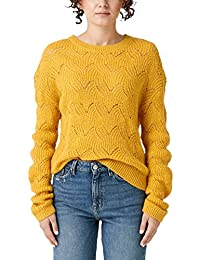 Q/S designed by Damen Strickpullover mit Ajour-Muster