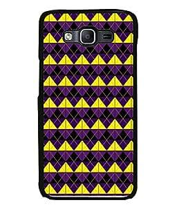 PrintVisa Designer Back Case Cover for Samsung Galaxy E5 (2015) :: Samsung Galaxy E5 Duos :: Samsung Galaxy E5 E500F E500H E500Hq E500M E500F/Ds E500H/Ds E500M/Ds (Box Square Flower Yellow Violet )