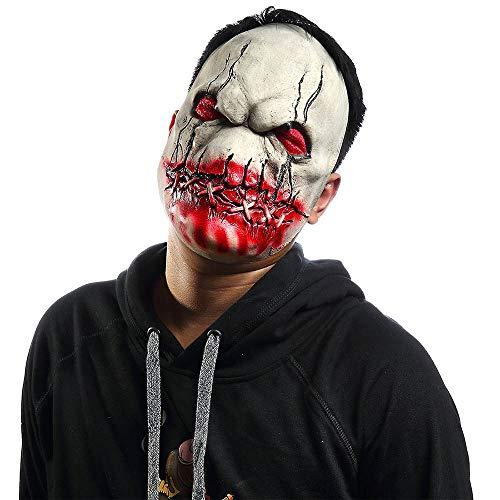 ie Schrec Klicher Dämon Cosplay Horror Blutig Skelett Latex Maske ()