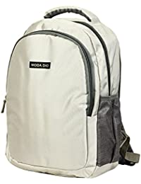 Moda Dio Large Laptop Backpack Grey Polyester Trendy Unisex Bags With Adjustable Strap - BPK06