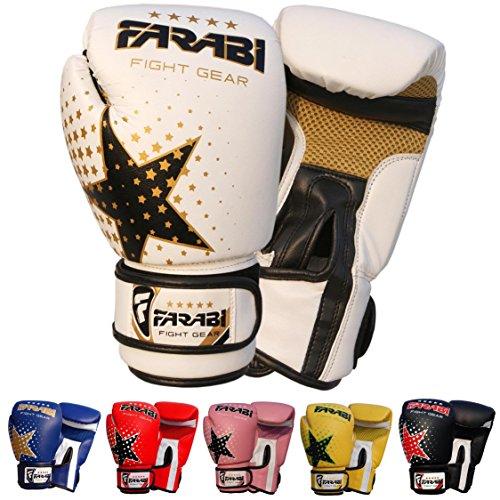 Boxhandschuh-6-Unzen Sparring Kick Boxing MMA Junior Mitts Boxsäcke Pads Trainings Paar Empfohlen für 4-11 Jahre alt