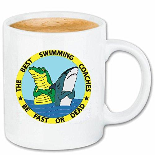 Kaffee Krokodil Tasche (Reifen-Markt Kaffeetasse WEISSER HAI UND KROKODIL WARTEN AUF Schwimmer DIE BESTEN SCHWIMMLEHRER Megalodon BLAUHAI HAMMERHAI SCHWARZSPITZEN RIFFHAI WALHAI MAKOHAI K)