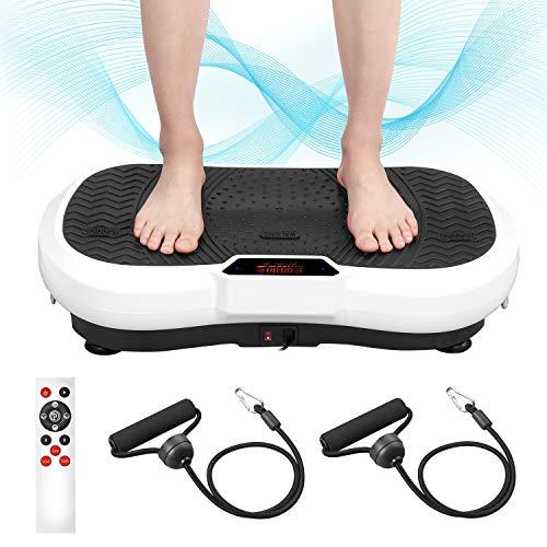 ENKEEO Plataforma Vibratoria, Máquina de Masaje Muscular, 99 Niveles de Intensidad y 5 Programas Integrados con Control Remoto,Entrenamiento en Casa para Pérdida de Peso y Masaje, Motor Silencioso