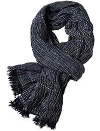 IWGR Sciarpa uomo inverno autunno Plaid Stripes Pashmina modale lunghe  sciarpe calde sciarpa a maglia 299df5476dbf