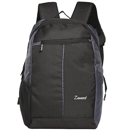 Zwart 20 Ltrs Black And Grey Slim Laptop Backpack