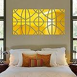 Zegeey 3D Spiegel Rechteck Vinyl Abnehmbare Wandaufkleber Aufkleber Home Decor Art DIY 14 Stücke