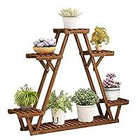 ZXCMNB Flower Stand Floor-standing Wooden Multi-layer Space Saving Plant Stand Indoor And Outdoor Shelf Balcony Living Room Patio Pot Rack