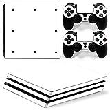 Morbuy PS4 Pro Skin Design Folie Aufkleber Sticker schützende Haut Schale für Sony Playstation 4 Pro Konsole und 2 Dualshock Controller (Only White)