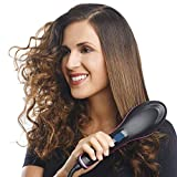 #8: MW Mall India 2 In 1 Ceramic Hair Straightener Brush (Black, RH-Simply-A)
