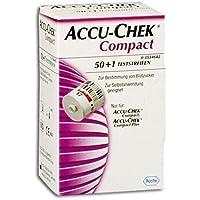 ACCU CHEK Compact Glucose Teststreifen, 50 St preisvergleich bei billige-tabletten.eu