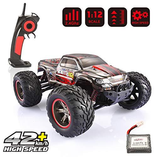 GoStock Ferngesteuertes Auto, 1:12 Maßstab RC Autos 42+ km/h High-Speed 2.4GHz RC Geländewagen Monstertruck Ferngesteuert Buggy Geschenk für Kinder und Erwachsene