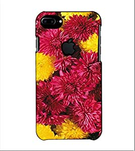 Fuson Designer Back Case Cover for Apple iPhone 7 Plus (Logo View Window Case) (Colurful Flowers Themes)