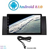 Android 8.1.0 Autoradio, Hi-azul Car Radio In-Dash 9 Zoll Car Stereo GPS Navigation 4-Core Moniciver Navi Car Audio für BMW 5 Serie-E39/BMW X5-E53 (mit Verlängerungskabel)