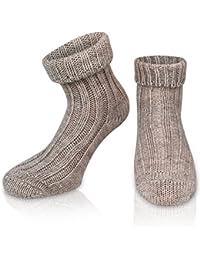 2 Paar Sehr Warme weiche Umschlag Söckchen mit Alpaka Wolle / Bettsocken / Sauna Socken