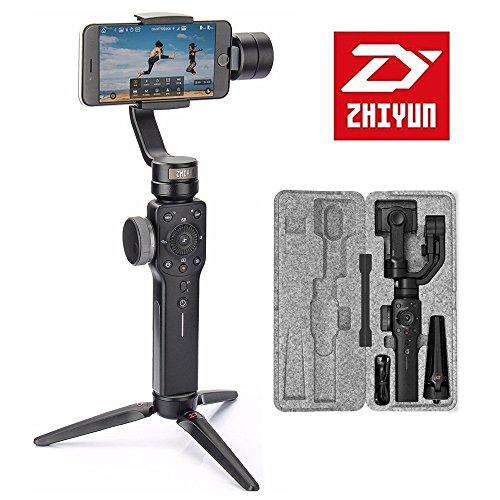 Zhiyun Smooth 4 3-Achsen-Handheld Gimbal Stabilisator Kompatibel mit Smartphones wie iPhone X 8 7 Plus 6 Plus Smartphones Vertigo Shoot Modus Fokus Pull & Zoom-Fähigkeit(Einige Funktionen können Android vorübergehend nicht unterstützen)