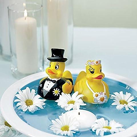 Wedding Star coppia di sposi papere in gomma