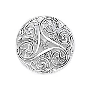 Keltische Brosche Triskele aus Silber Mystische Brosche Wikinger Gewandschmuck Fibel LARP