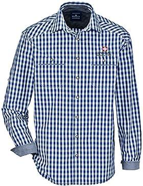 BABISTA Herren Trachtenhemd Baumwolle mit Krempel-Funktion Atmungsaktiv
