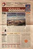 Telecharger Livres FIGARO ECONIMIE LE du 31 07 2010 LA HAUSSE DU PETROLE FAIT FLAMBER LES PROFITS DE TOTAL ETATS UNIS LA REPRISE S ESSOUFFLE NUCLEAIRE 2 ANS DE RETARD POUR L EPR D EDF BILAN MITIGE POUR LA LOI CHATEL DEFICIT LE FMI MET LA FRANCE EN GARDE LE STUDIO MIRAMAX CHANGE DE MAINS DISNEY LE CEDE A COLONY CAPITAL LES HABITANTS DE BUDWEIS FONT PLIER LE BRASSEUR BUDWEISER MICHEL DE ROSEN LE D G D EUTELSAT EADS PRET A UNE ACQUISITION DE 1 MILLIARDS D EUROS LAFARGE RENFORCE SON PLAN DE RE (PDF,EPUB,MOBI) gratuits en Francaise