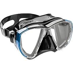 Cressi - Masque de plongée Sous Marine pour Adulte - Big Eyes - Noir (Bleu/Noir) - Taille Unique