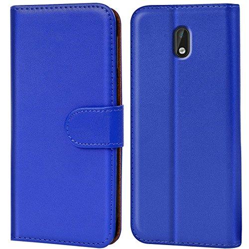 Verco Nokia 3 Hülle, Handyhülle für Nokia 3 Tasche PU Leder Flip Case Brieftasche - Blau