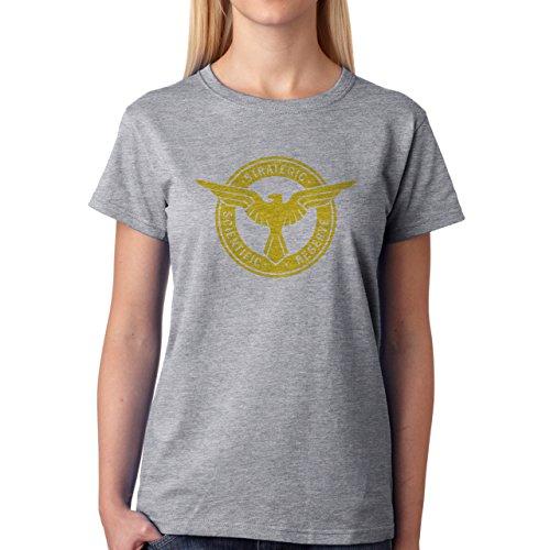 Strategic Scientifik Reserve Yellow Blue Damen T-Shirt Grau