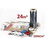 Heating floor - 24m2 Underfloor Heating Film Kit for Under Laminate & Wood 220W
