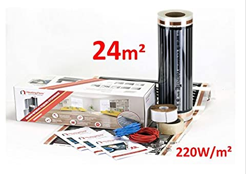 Film Chauffant Electrique - Heating floor - 24m2 Kit de électrique