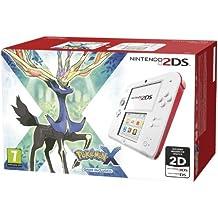 Nintendo 2Ds - Consola HW, Color Rojo Y Blanco + Pokemon X