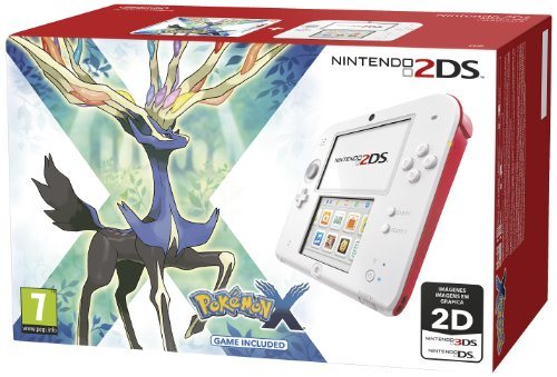 Nintendo 2Ds - Consola HW, Color Rojo Y Blanco + Pokemon X